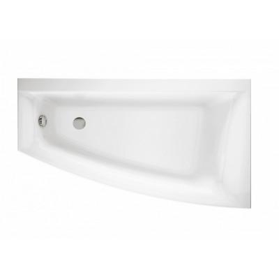 Акриловая ванна VIRGO MAX ассиметричная, 160x90, правая, без ножек, белый