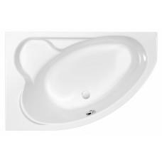 Акриловая ванна KALIOPE 153x100 левая, без ножек, белая