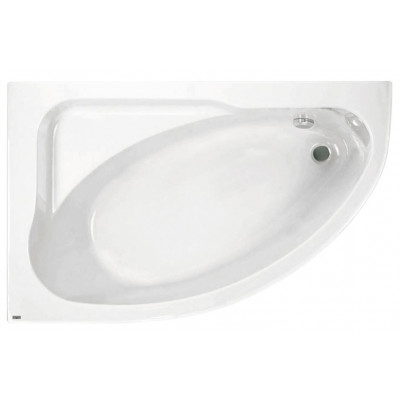 Акриловая ассимметричная ванна Jika SPIRIT 163х104, левая с м/к и сифоном