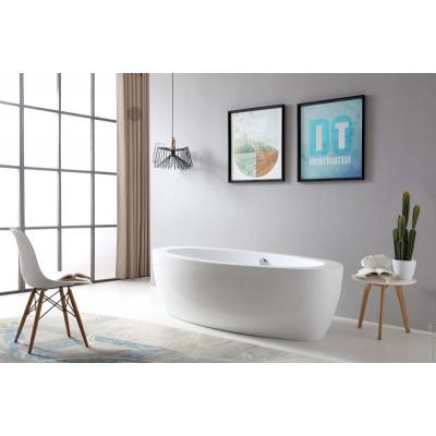 Акриловая отдельностоящая ванна ABBER AB9206 185x91