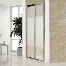 Дверь bifold стекло Matt csik профиль хром 80х185