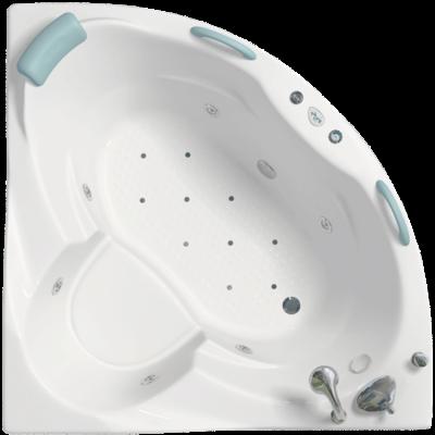 Ванна акрил Клео 1260х1260х730+каркас+слив-перелив
